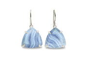 Lace Agate Silver Earrings for Women - Fine Jewelry for Formal and Casual, Handmade Earrings for Gifts