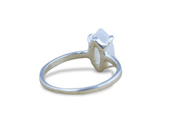 925 Sterling Silver Rings - Handcrafted Moonstone Ring - Charming June Birthstone Ring Available in Sizes 3-12.5