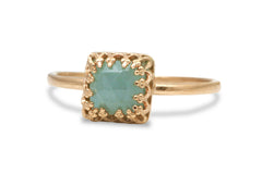 Birthstone Rings for Women - 14k Gold Filled Aquamarine Ring - Fashionable Jewelry and Elegant Gift Ideas for Her