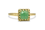Ring Accessories - 14k Gold Filled Aventurine Ring - Handcrafted Solitaire Ring for Gifts and Collection