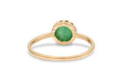 Dainty Rings for Women - Elegant Jade Ring in 14k Gold - Sister, Best Friend, Mom Jewelry - Handmade Jewelry for Celebrations and Everyday Wear