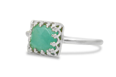 Amazonite in 925 Sterling Silver Women Jewelry - Fine Jewelry for Mom, Sister, Best Friend, Wife - Artisan-crafted Gemstone Rings for Women