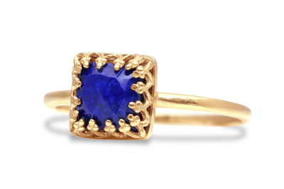 Lapis Lazuli in Rose Gold - Handmade Lapis Rings for Women - 14k Gold Rings for Women, Teens, Girls - Jewelry for Personal Collection and Special Collection