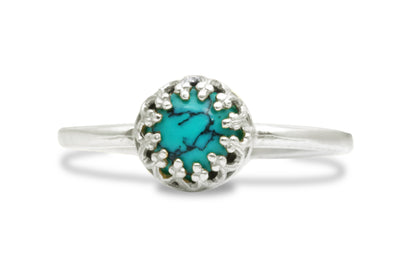 Turquoise Jewelry for Women - Handmade 925 Jewelry with December Birthstone - Gift Ring, Fashion Ring, Stacking Bohemian Jewelry for Women