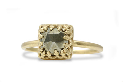 Pyrite Ring in 14k Gold Filled Petite Band - Handcrafted Gold and 925 Rings for Any Occasion and Fashion - Rings Jewelry