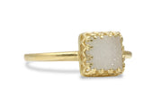 14k Gold Filled White Druzy Ring - Handmade Druzy Jewelry for Women - 14k Jewelry for Gifts and Collection