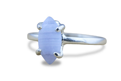 Dainty Rings - Lace Agate Marquise Ring in 925 Sterling Silver - Jewelry for Gifts, Events, Everyday Wear and Collection