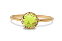 Birthstone Rings for Women - 14k Gold Filled Peridot Jewelry for Women - Handmade Birthstone Jewelry for Women - Rings for Fashion and Gifts