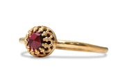 Birthstone Jewelry - 14k Ring Garnet Jewelry for Women - Handmade January Birthstone Rings, Everyday Rings, Stackable Ring