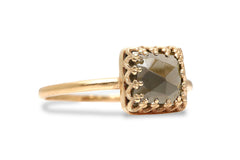 Gold Rings for Women - Smoky Quartz Ring in 14k Gold - Formal, Casual and Boho Rings for Women