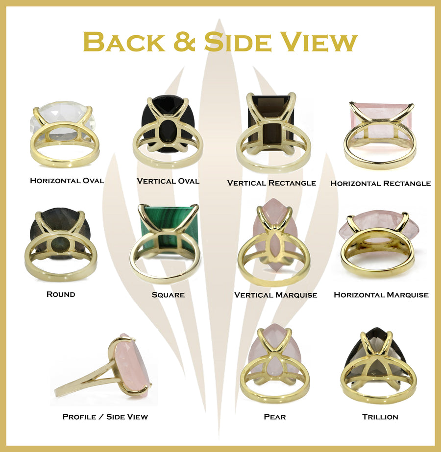Sleek Clear Quartz Ring with 14k Gold-filled Ring Band - Gem Jewelry Handmade 14kt Gold Rings for Women - Sizes 3-12.5