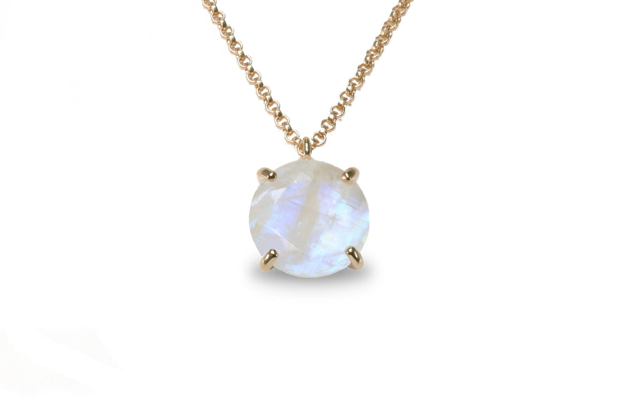 Adorable Moonstone Jewelry 16mm Round Crystal Pendant Necklace