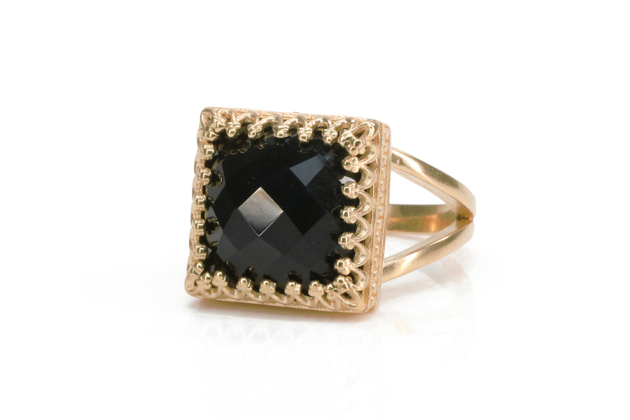 Stunning Black Onyx Ring with 925 Sterling Silver