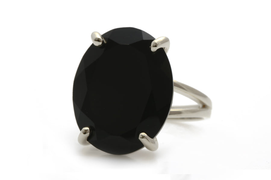 Statement Black Onyx Ring - Gem Jewelry for Special Events and Everyday Wear - Artisan-made Cocktail Ring