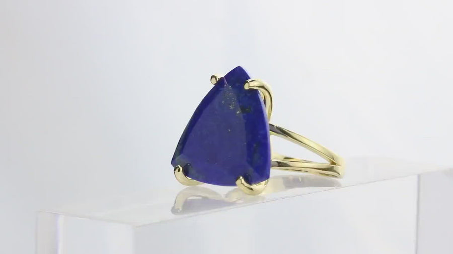 Exquisite Statement Ring - Lapis Lazuli in 925 Sterling Silver - AA Gemstone Fine Quality Silver Rings for Women - Engraving Available