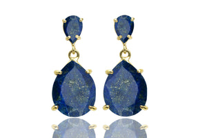 Lapis earrings,September birthstone earrings,teardrop earrings,gemstone earrings,gold earrings,bridal earrings