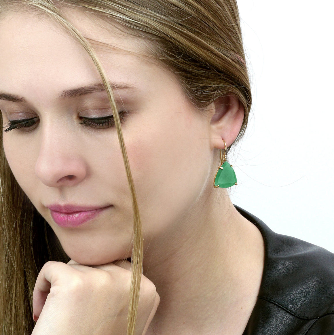 Green Aventurine earrings,gold earrings,gold stone earrings,precious earrings,green earrings,dangle earrings