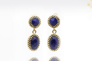 Lapis earrings,gold earrings,long earrings,gemstone earrings,September birthstone earrings,dangle earrings