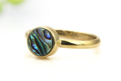 Abalone ring,gold ring,bezel ring,delicate ring,shell ring,pearl ring,unique rings,handmade ring,stack ring