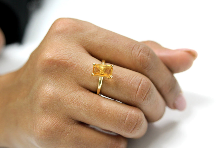 Citrine Ring in 14k Gold-filled Setting