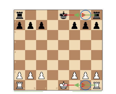 how to castle in chess castling image example