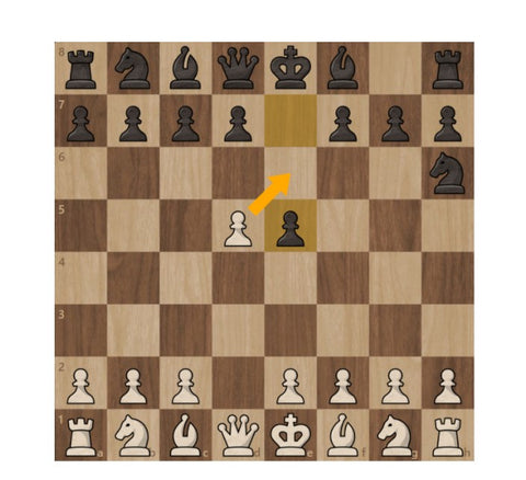 en passant pawn move in chess example
