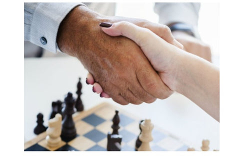 how to draw in the game of chess hand shake chessboard