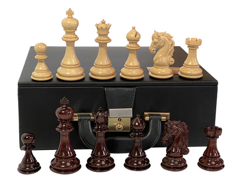 "4.4"" Sea Horse Limited Edition Sandal Wood Collectors Chess Set - Official Staunton™"