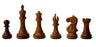 "4"" Supreme Golden Rosewood Queens Gambit Chess Pieces - Official Staunton™"