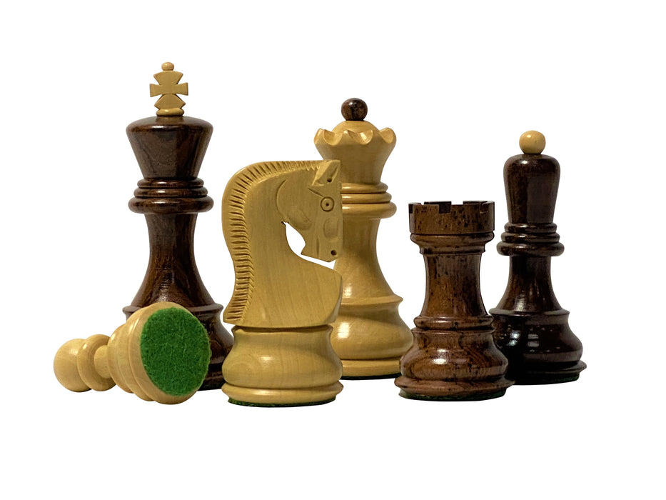 Anjan Zagreb Padauk Chess Set - Official Staunton™