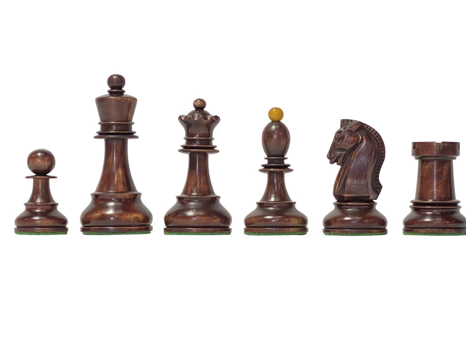 1950 Dubrovnik Antique and Mahogany Chess Pieces - Official Staunton™