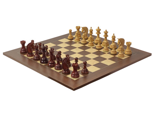 Friesian Padauk Montgoy Palisander Chess Set - Official Staunton™
