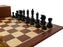 Acacia Mahogany Black Dubrovnik Chess Set - Official Staunton™