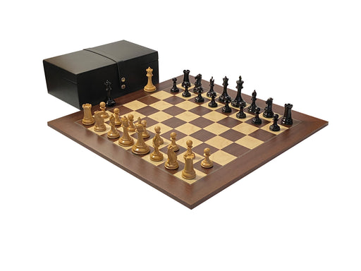 Monarch Ebony Palisander Rexine Chess Set - Official Staunton™