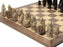 Isle of Lewis Chess Pieces & Walnut Chess Board - Official Staunton™