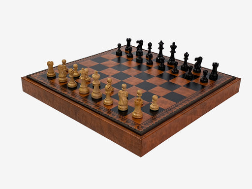 "19""  Italian Decorative Leatherette Storage Chess Set - Official Staunton™"