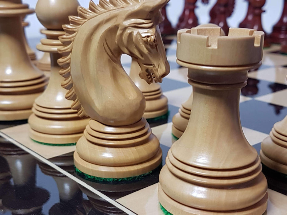 Friesian Prestige Padouk High Gloss Anegre Chess Set - Official Staunton™