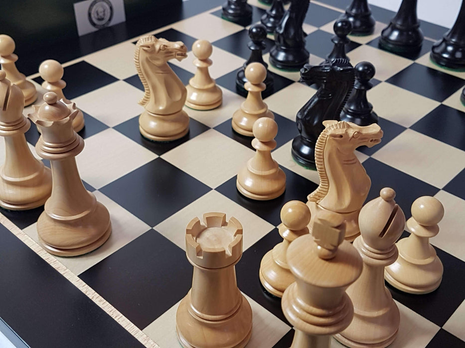 Black Winchester Anegre Chess Set Combination - Official Staunton™