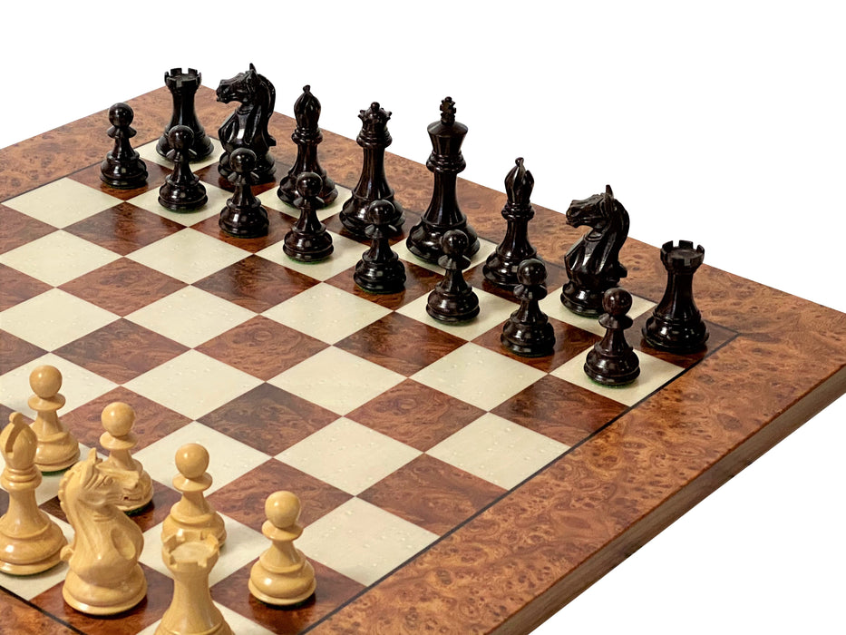 Italian Prestige Supreme Rosewood Briar Elm Root Chess Set - Official Staunton™