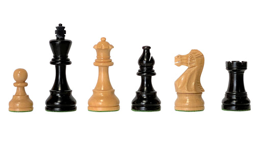 "3.75"" American Classic Ebonised Chess Pieces - Official Staunton™"