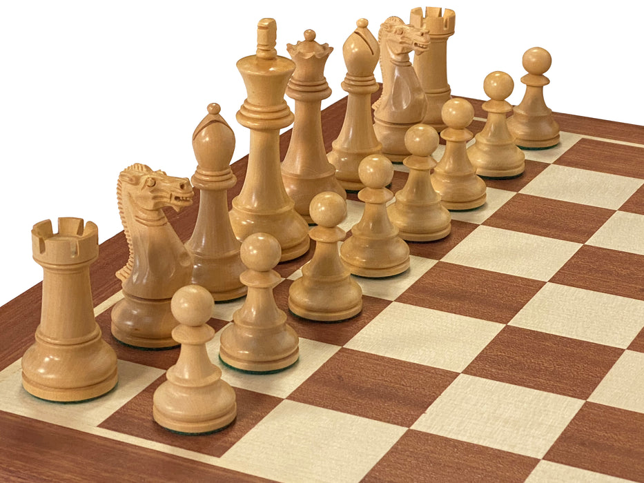 Black Winchester Mahogany Acacia Chess Set Combination - Official Staunton™