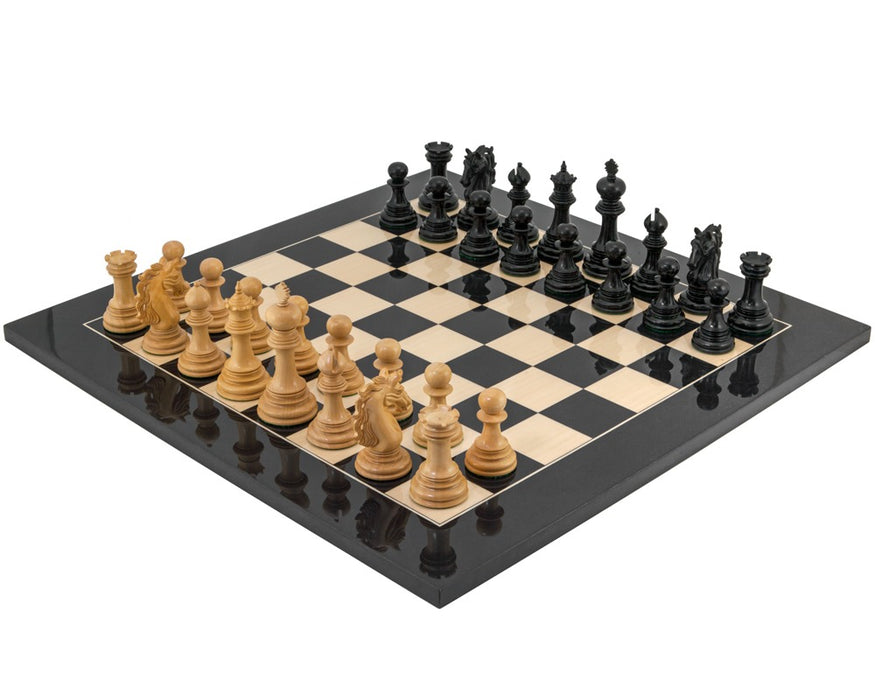 Constantine Luxury Ebony Chess Pieces - Official Staunton™