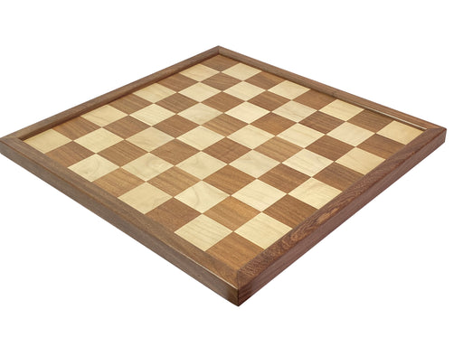 "22"" Acacia and Maple Solid Wood Chess Board - Official Staunton™"