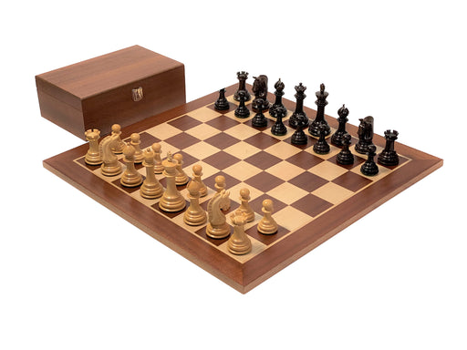 Colombian Imperial Rosewood Mahogany Chess Set & Box - Official Staunton™