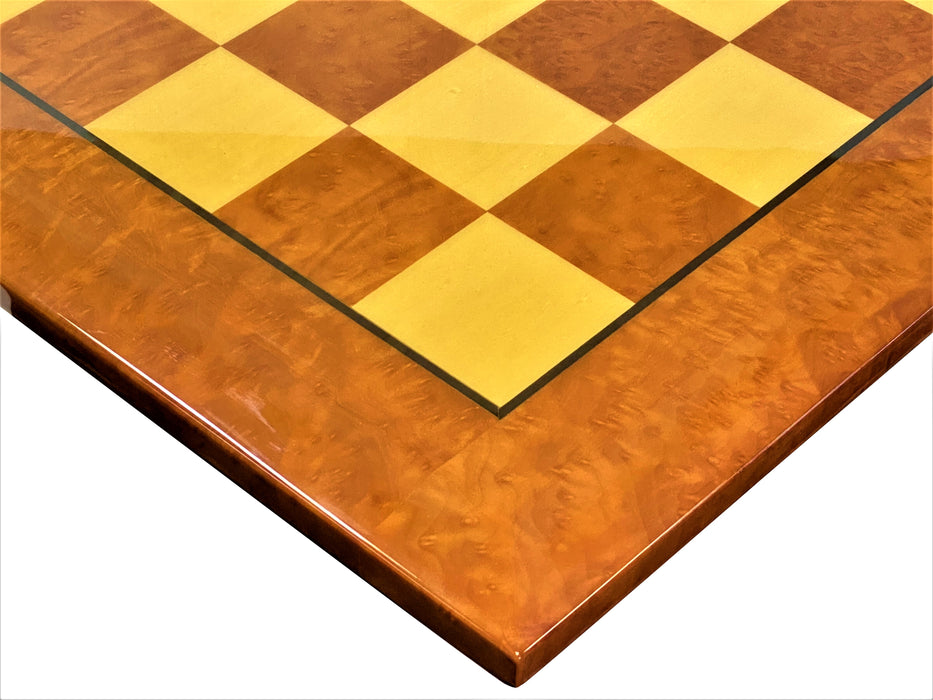 Madrona Briarwood Chess Board - Official Staunton™