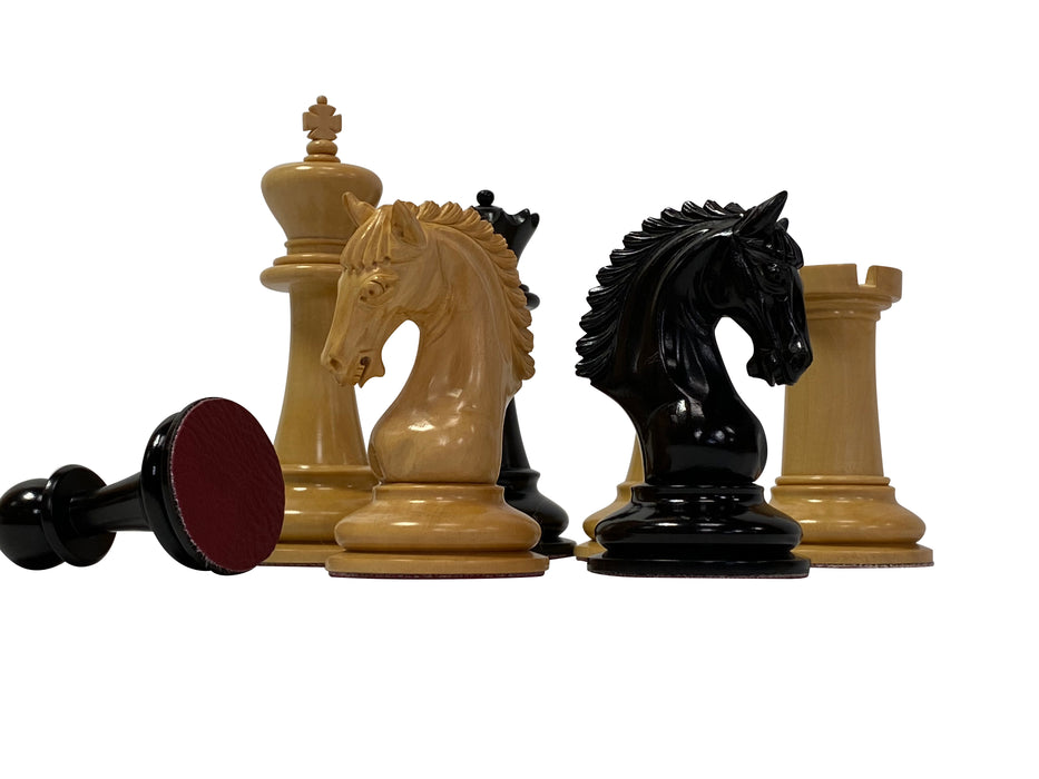 "4.5"" Gallant Knight Ebony Prestige Chess Pieces - Official Staunton™"