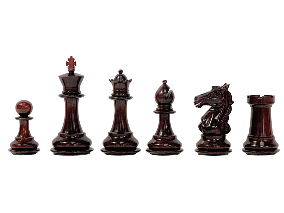 Aviator Padauk Chess Pieces - Official Staunton™
