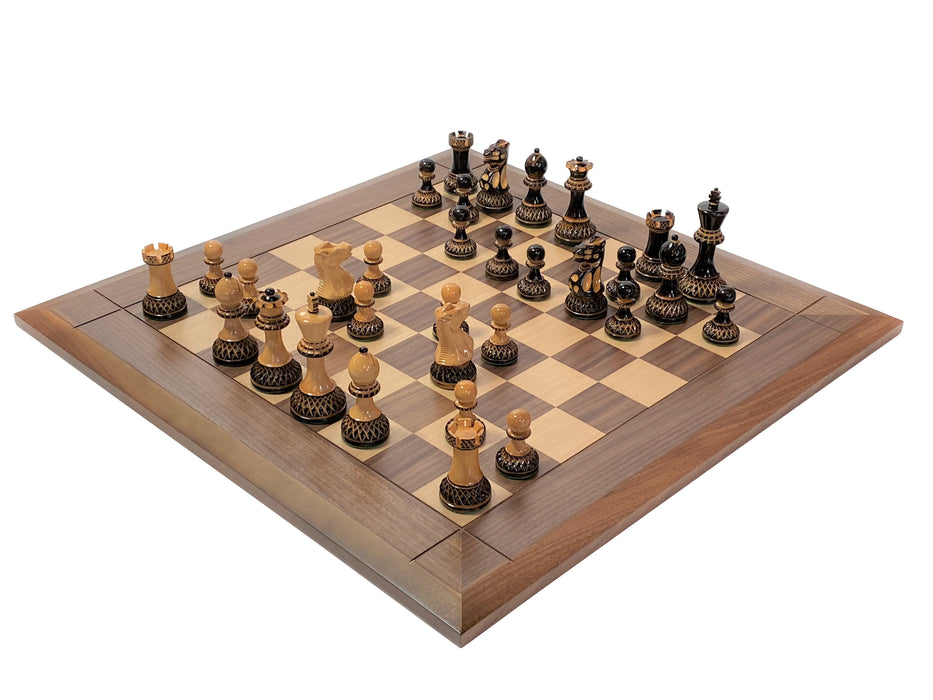 Artistic Parker Walnut Bevel Chess Board - Official Staunton™
