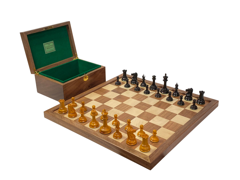 "3.5"" Leuchars Antique Chess Set Combination - Official Staunton™"