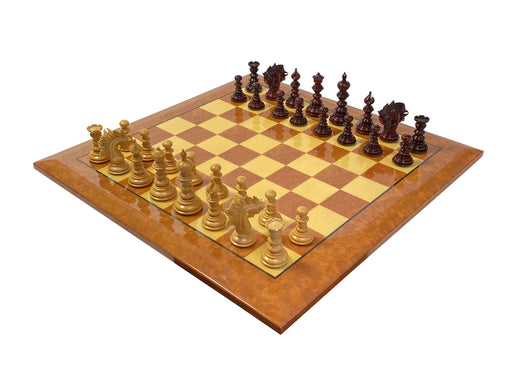 Exquisite St. Petersburg Madrona Briarwood Chess Set - Official Staunton™